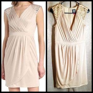 Vince Camuto Champagne Gold Shimmer Dress sz 6